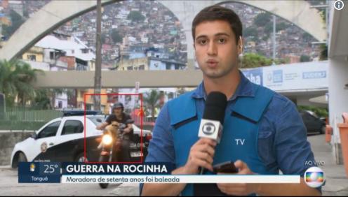 Cat Biker Invades TV Report